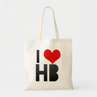 I Love HB Budget Tote Bag