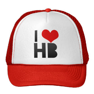 I Love HB Trucker Hat