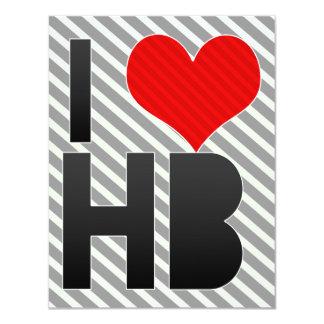 I Love HB 4.25x5.5 Paper Invitation Card