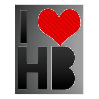 I Love HB Postcard