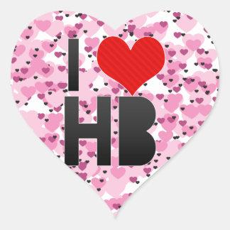 I Love HB Heart Sticker