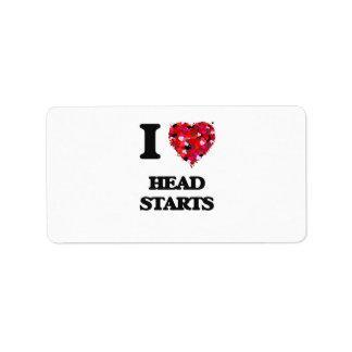 I Love Head Starts Address Label