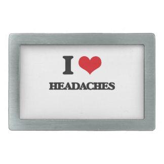 I love Headaches Rectangular Belt Buckle