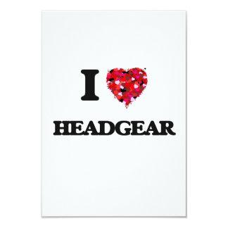 I Love Headgear 3.5x5 Paper Invitation Card