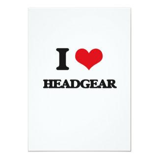 I love Headgear 5x7 Paper Invitation Card
