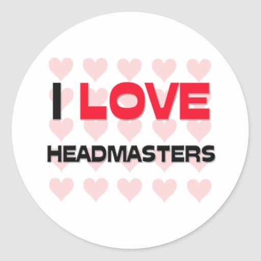I LOVE HEADMASTERS CLASSIC ROUND STICKER