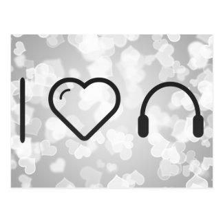 I Love Headsets Postcard