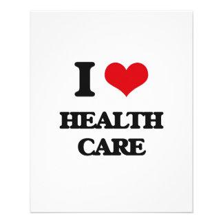 "I love Health Care 4.5"" X 5.6"" Flyer"