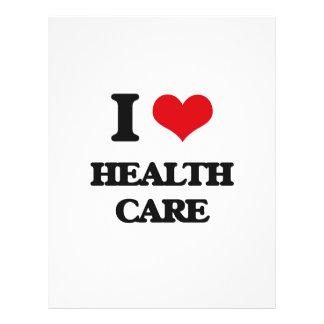 "I love Health Care 8.5"" X 11"" Flyer"