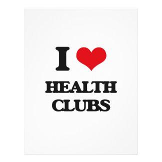 "I love Health Clubs 8.5"" X 11"" Flyer"