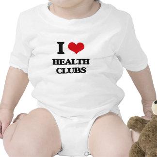 I love Health Clubs Baby Bodysuits