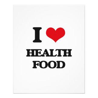 """I love Health Food 4.5"""" X 5.6"""" Flyer"""