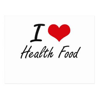 I love Health Food Postcard