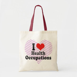 I Love Health Occupations Budget Tote Bag