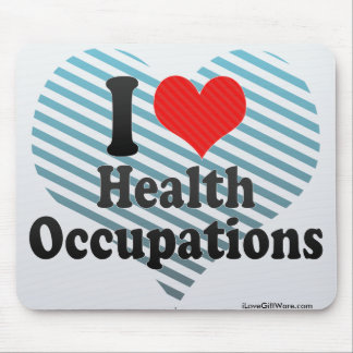 I Love Health Occupations Mouse Pad