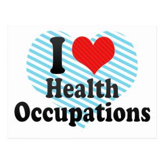 I Love Health Occupations Postcard