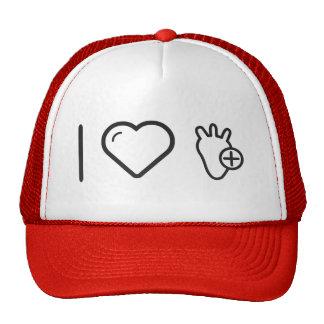 I Love Healthy Heart Trucker Hat