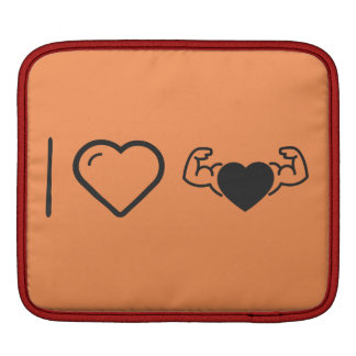 I Love Healthy Hearts iPad Sleeve