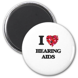 I Love Hearing Aids 2 Inch Round Magnet