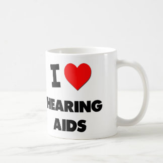 I Love Hearing Aids Classic White Coffee Mug