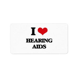 I love Hearing Aids Address Label