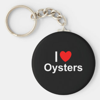 I Love Hearrt Oysters Keychain