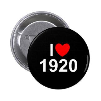 I Love (Heart) 1920 Button