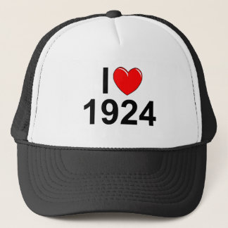 I Love (Heart) 1924 Trucker Hat