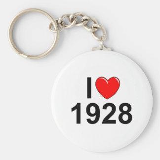 I Love (Heart) 1928 Key Chain