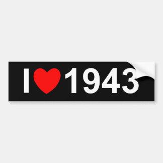 I Love (Heart) 1943 Car Bumper Sticker