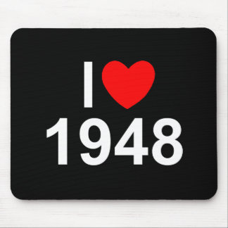 I Love (Heart) 1948 Mousepads