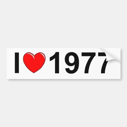 I Love (Heart) 1977 Car Bumper Sticker