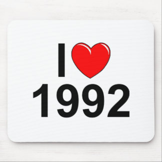 I Love (Heart) 1992 Mouse Pad