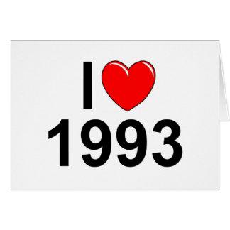 I Love (Heart) 1993 Greeting Card