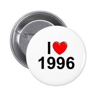 I Love (Heart) 1996 Button