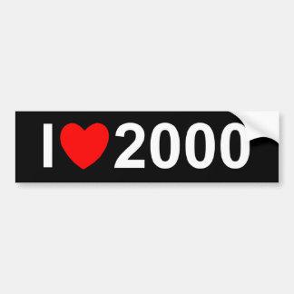 I Love (Heart) 2000 Bumper Sticker