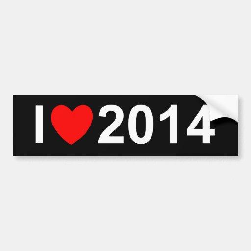 I Love (Heart) 2014 Bumper Stickers