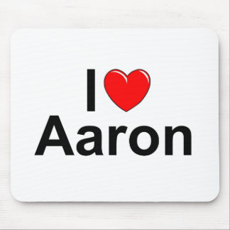 I Love (Heart) Aaron Mouse Pad