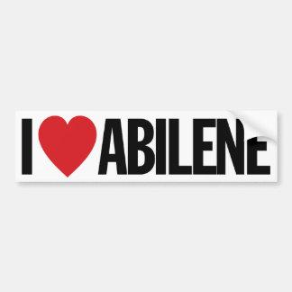 """I Love Heart Abilene 11"""" 28cm Vinyl Decal Bumper Sticker"""