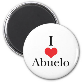 I Love (Heart) Abuelo 2 Inch Round Magnet
