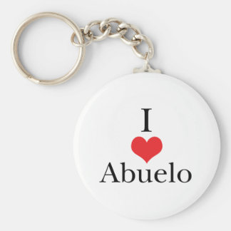 I Love (Heart) Abuelo Basic Round Button Keychain