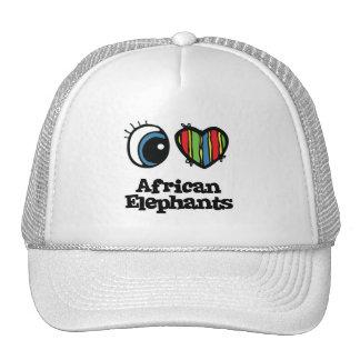 I Love (Heart) African elephants Trucker Hat