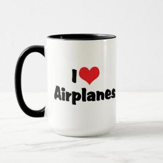 I Love Heart Airplanes Mug