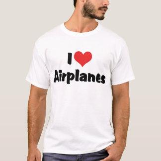 I Love Heart Airplanes T-Shirt