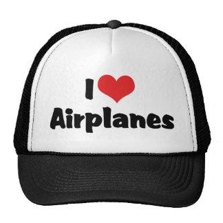 I Love Heart Airplanes Trucker Hat