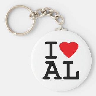 I Love Heart Alabama Keychain