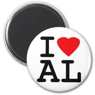 I Love Heart Alabama Magnet