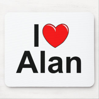 I Love (Heart) Alan Mouse Pad
