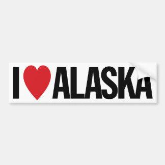 "I Love Heart Alaska 11"" 28cm Vinyl Decal Car Bumper Sticker"