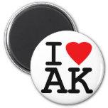 I Love Heart Alaska Fridge Magnets